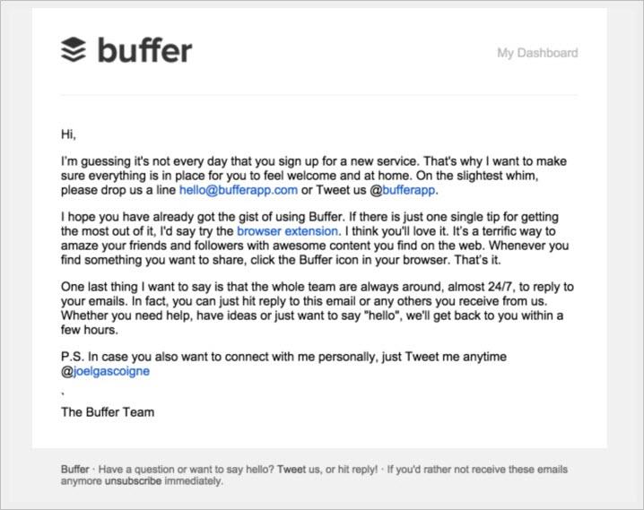 buffer email marketing