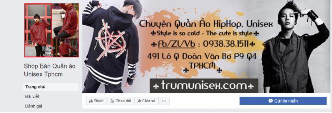 Bán hàng online trên FB.