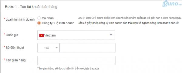 Cách đăng ký bán hàng trên Lazada - Tạo tài khoản bán hàng trên lazada