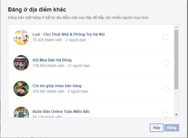tính năng bán hàng trên Facebook cá nhân