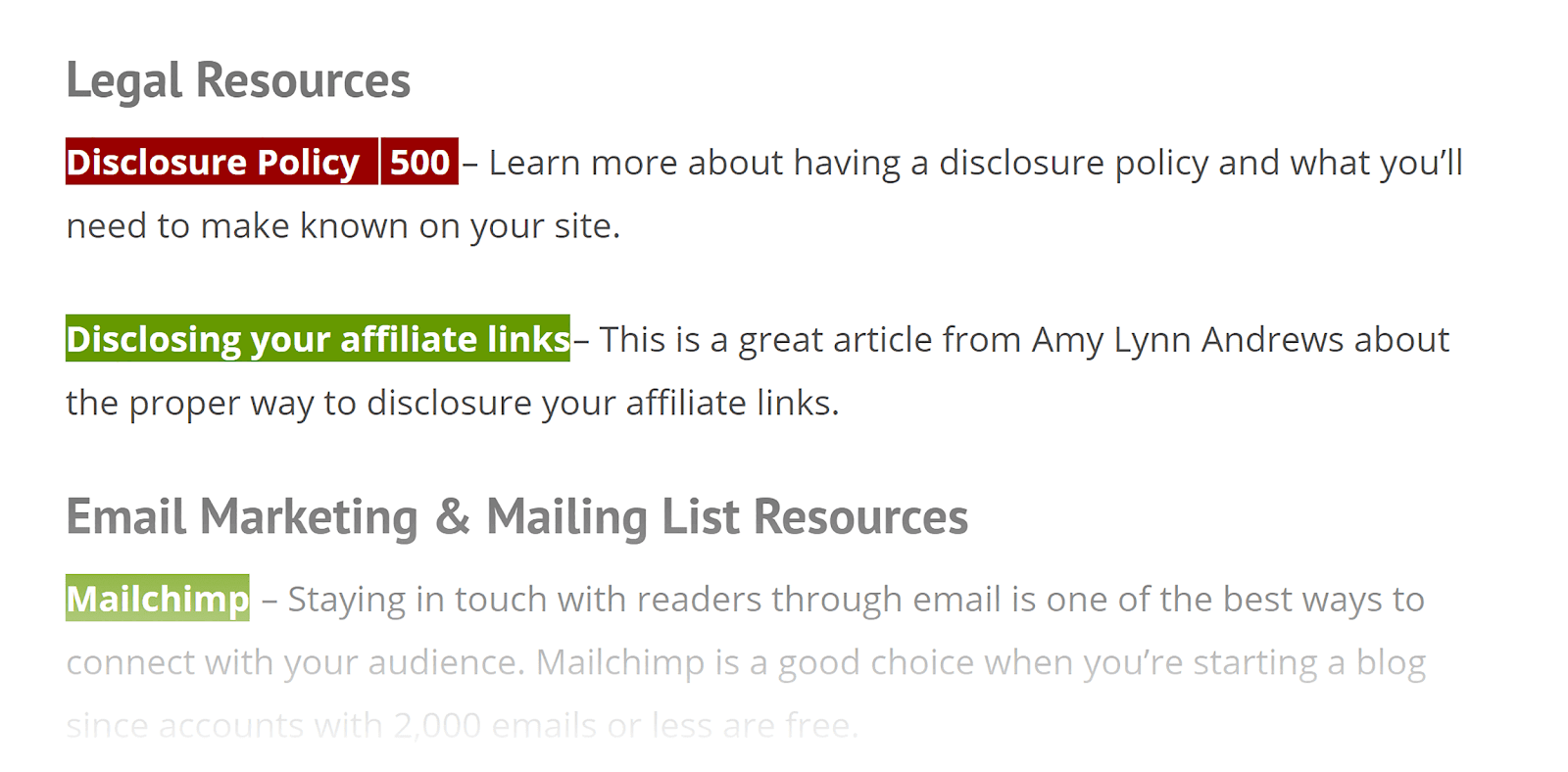 SEO content - dead links (liên kết hỏng)