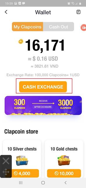 Kiếm tiền trên điện thoại với app ClipClaps1
