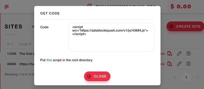 Kiếm tiền trên Blog bằng thông báo đẩy (Push Notification) của DatsPush 9