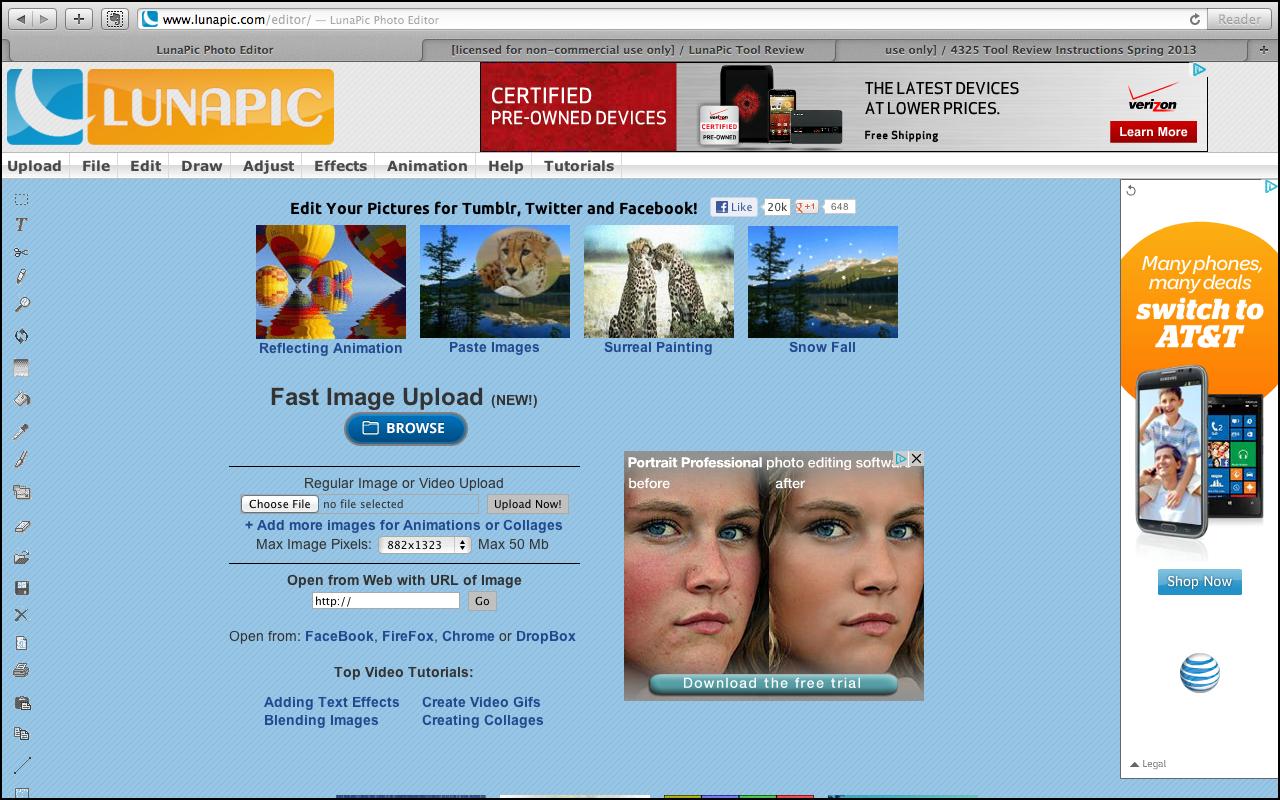 các phần mềm chỉnh ảnh online